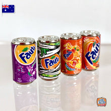 Load image into Gallery viewer, Mini Fanta Cans set of 4 - 1:12 Miniature