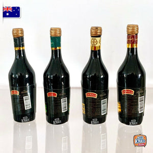 Mini B Beverage Bottles Set of 4 | 1:12 Miniature