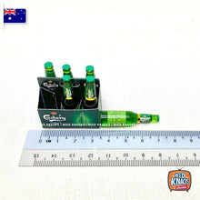 Load image into Gallery viewer, Mini Casberg Beer Bottles & Carrier - 1:12 Miniature