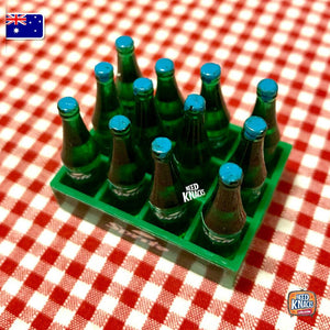 Mini Soda Bottles with Crate - 1:12 Miniature