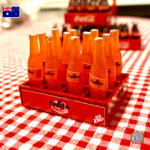 Load image into Gallery viewer, Mini Fanta Bottles with Crate - 1:12 Miniature