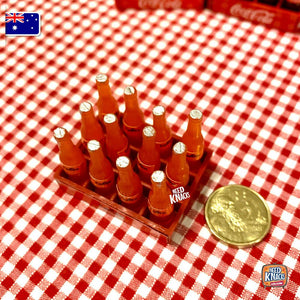Mini Fanta Bottles with Crate - 1:12 Miniature