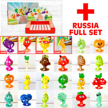 Load image into Gallery viewer, STIKEEZ RUSSIA - Complete 20 PLUS 4 RARE! add to Coles Fresh Stikeez Collection!