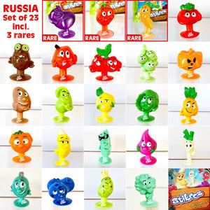 STIKEEZ RUSSIA - Complete 20 PLUS 4 RARE! add to Coles Fresh Stikeez Collection!