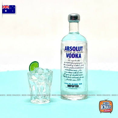 Mini Vodka Bottle & Tumbler Set | Miniature 1:12