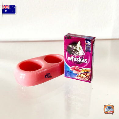 Mini Collectables - Cat Food & Feeder 1:12 Miniature