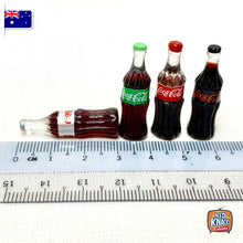 Load image into Gallery viewer, Mini Coke Bottles Set of 4 | 1:12 Miniature