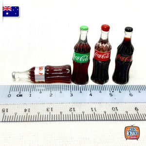 Mini Coke Bottles Set of 4 | 1:12 Miniature