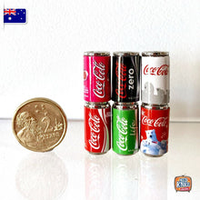 Load image into Gallery viewer, Mini Classic Coke Can Set of 6 - 1:12 Miniature
