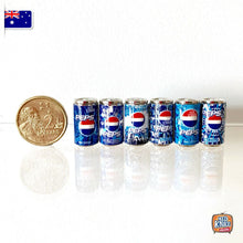 Load image into Gallery viewer, Mini Classic Pepsi Can Set of 6 - 1:12 Miniature