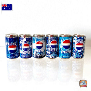 Mini Classic Pepsi Can Set of 6 - 1:12 Miniature