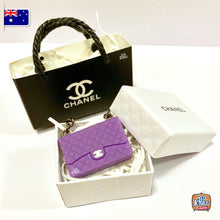 Load image into Gallery viewer, Mini Handbag Set - C Purple 1:12 miniature