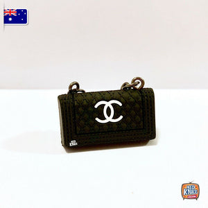 Mini Collectables - Handbag Set - C Black V2 1:12 Miniature