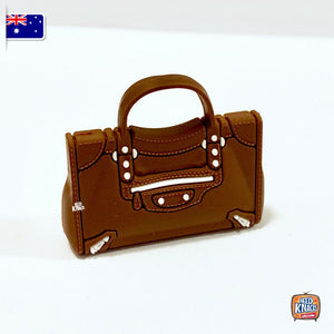 Mini Handbag - B Brown - 1:12 Miniature