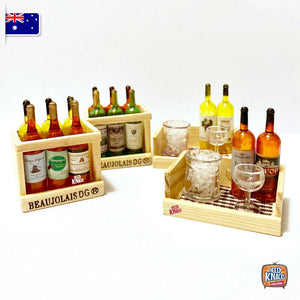 Mini Wine Bottles Set 1 - 1:12 Miniature