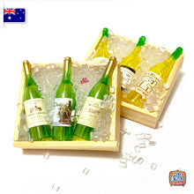 Load image into Gallery viewer, Mini Wine Bottles w mini ice - 1:12 Miniature