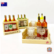 Load image into Gallery viewer, Mini Wine Bottles Set - 1:12 Miniature
