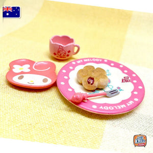 Mini My Melody Tea Set Re-Ment - 1:12 Miniature