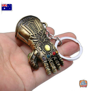 Marvel Avengers Thanos Gauntlet Keyring Infinity War Keychain End Game AU Seller