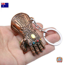 Load image into Gallery viewer, Marvel Avengers Thanos Gauntlet Keyring Infinity War Keychain End Game AU Seller
