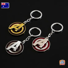 Load image into Gallery viewer, Marvel Avengers A Logo ROTATABLE Keyring Infinity War Keychain End Game
