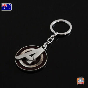 Marvel Avengers A Logo ROTATABLE Keyring Infinity War Keychain End Game