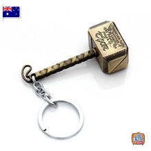 Load image into Gallery viewer, Marvel Avengers Thor's Hammer Keyring BRONZE Infinity War Keychain End Game