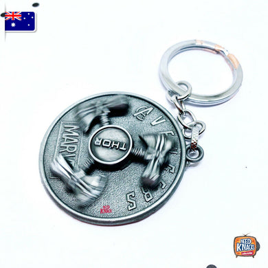Marvel Avengers Thor's Rotatable Keyring SILVER Infinity War Keychain End Game