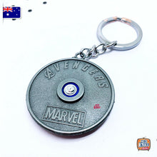 Load image into Gallery viewer, Marvel Avengers Thor's Rotatable Keyring SILVER Infinity War Keychain End Game