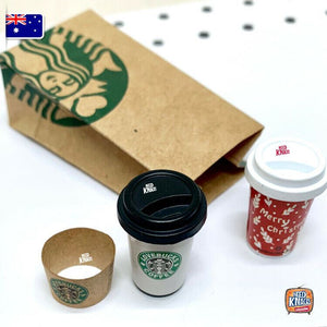 Mini Coffee & Paperbag Set - 1:12 Miniature