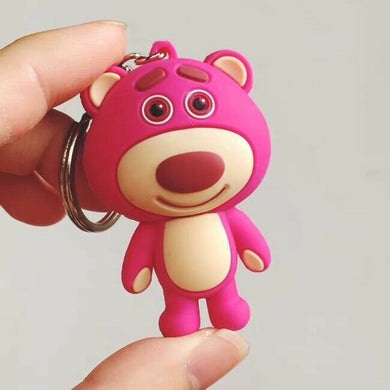 Toy Story 3 Lotso Bear keychain key ring Pixar Disney New AU Stock