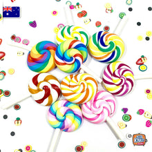 Load image into Gallery viewer, Mini Rainbow Lollipops Lot of 2! - 1:6 Miniature