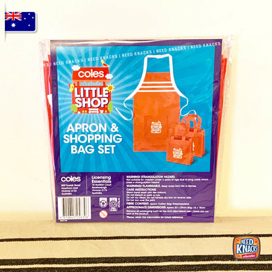 Coles Little Shop 2 - Apron & Shopping Bag Set