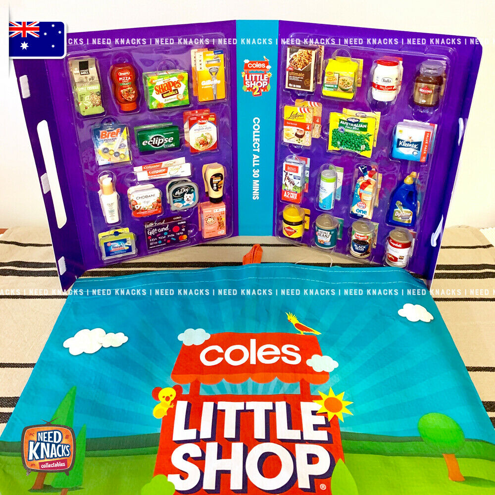 Coles Little Shop 2 -Complete Set & Little Shop Reusable Bag! NEW