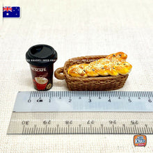 Load image into Gallery viewer, Mini Bread Loaf & Coffee Set 1:12 Miniature