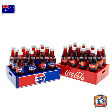 Mini Coke & Pepsi Crate set NEW & IMPROVED 1:12 Miniature