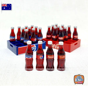 Special Offer Mini Coke & Pepsi Crate set 1:12 Miniature FREE SHIPPING Aus