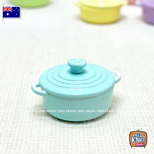 Mini Cast-Iron Pots - 7 Colours - 1:12 Miniature