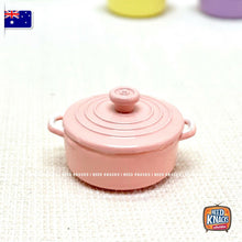 Load image into Gallery viewer, Mini Cast-Iron Pots - 7 Colours - 1:12 Miniature