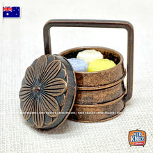 Load image into Gallery viewer, Mini Cast-Iron Three-Tier Carrier & Mooncake Set 1:12 Miniature