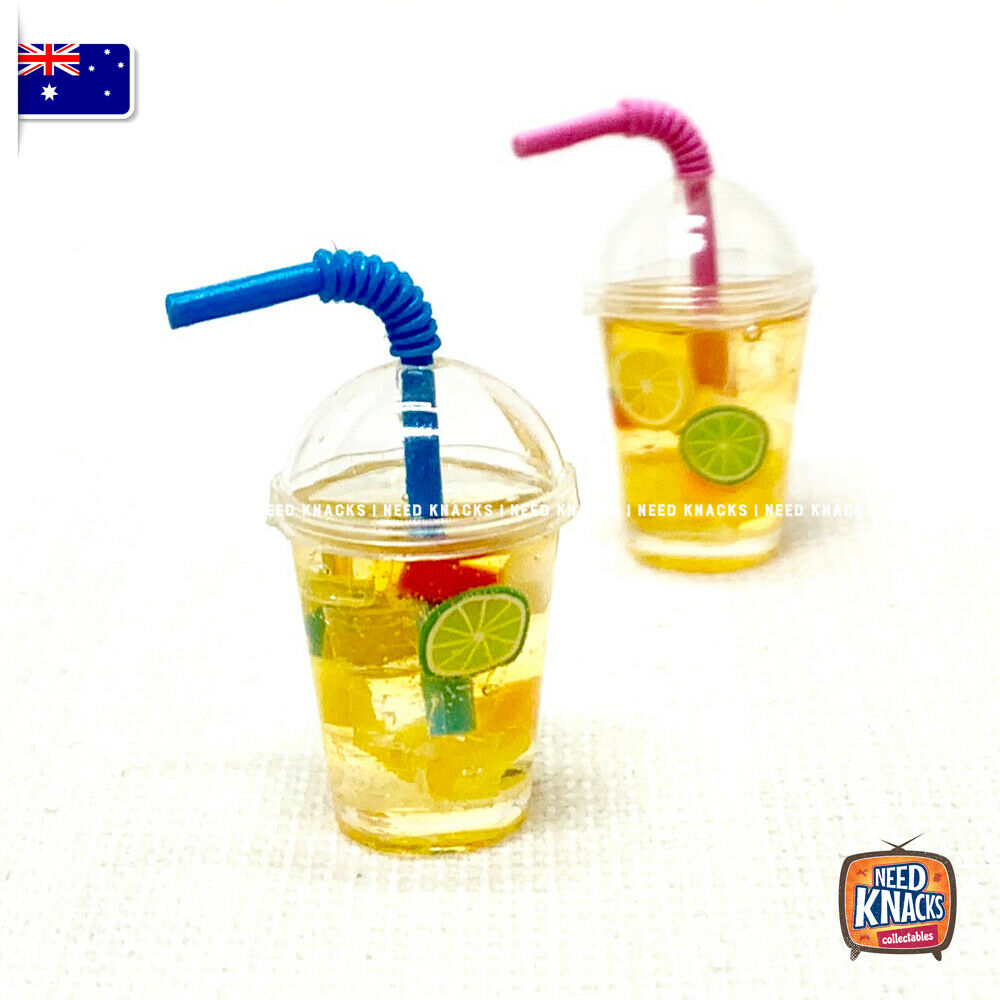 Mini Ice Tea Cup with Straw - 1:12 Miniature