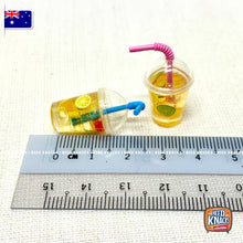 Load image into Gallery viewer, Mini Ice Tea Cup with Straw - 1:12 Miniature