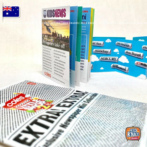 Coles Little Shop 2 Bonus Exclusive Newspaper Mini NEW SEALED