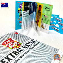 Load image into Gallery viewer, Coles Little Shop 2 Bonus Exclusive Newspaper Mini NEW SEALED