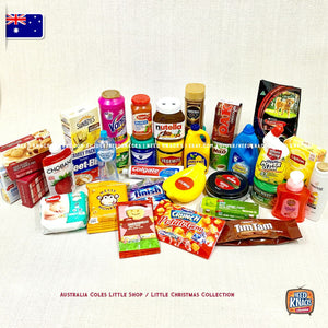 Coles Little Shop Series 1 - Full set 30 minis (no case) + 4 Little Christmas Minis NEW