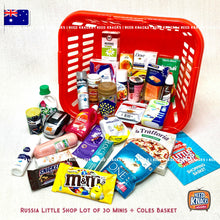 Load image into Gallery viewer, Russia Little Shop Minis Lot of 30 + Coles Little Shop Mini Basket | Need Knacks