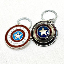 Load image into Gallery viewer, Rotatable Captain America's Shield Keyring Infinity War Keychain End Game