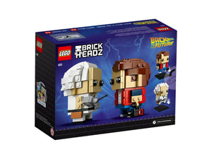 LEGO Brickheadz 41611 Marty McFly & Doc Brown BNIB | Back to Future Retired Set