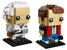 Load image into Gallery viewer, LEGO Brickheadz 41611 Marty McFly & Doc Brown BNIB | Back to Future Retired Set