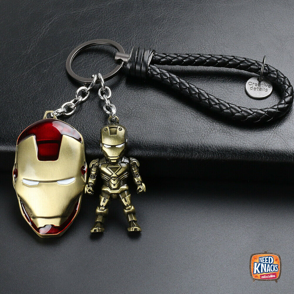 Iron Man Keyring Charms Marvel Avengers Infinity War Keychain End Game